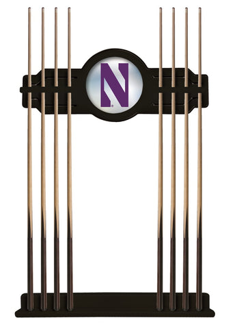 Northwestern Cue Rack in Black Finish by Holland Bar Stool; UPC: 071235431198