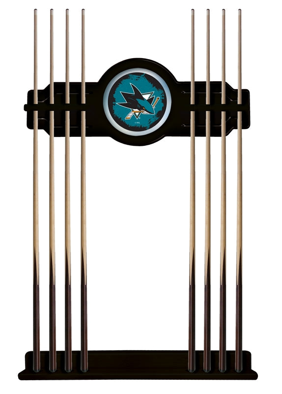 San Jose Sharks Cue Rack in Black Finish by Holland Bar Stool; UPC: 071235436131