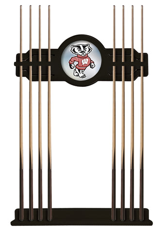 "Wisconsin ""Badger"" Cue Rack in Black Finish by Holland Bar Stool; UPC: 071235431631"