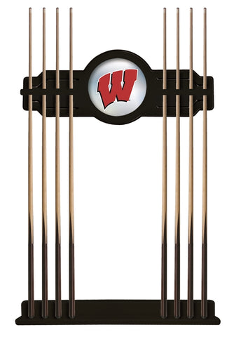 "Wisconsin ""W"" Cue Rack in Black Finish by Holland Bar Stool; UPC: 071235431655"