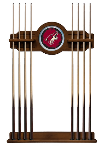 Arizona Coyotes Cue Rack in Chardonnay Finish by Holland Bar Stool; UPC: 071235436216