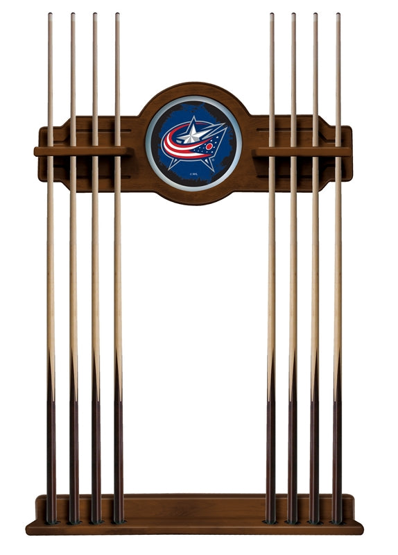 Columbus Blue Jackets Cue Rack in Chardonnay Finish by Holland Bar Stool; UPC: 071235436285