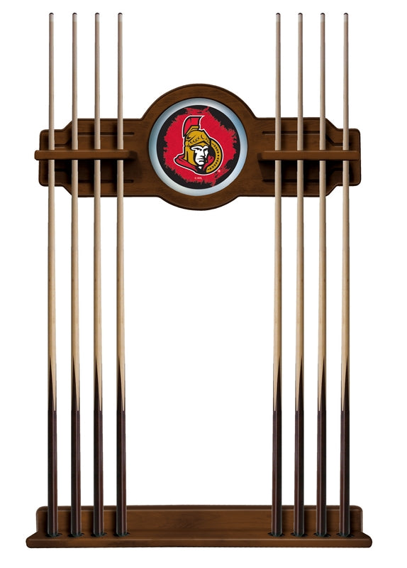 Ottawa Senators Cue Rack in Chardonnay Finish by Holland Bar Stool; UPC: 071235436407