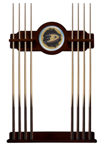 Anaheim Ducks Cue Rack in English Tudor Finish by Holland Bar Stool; UPC: 071235436506