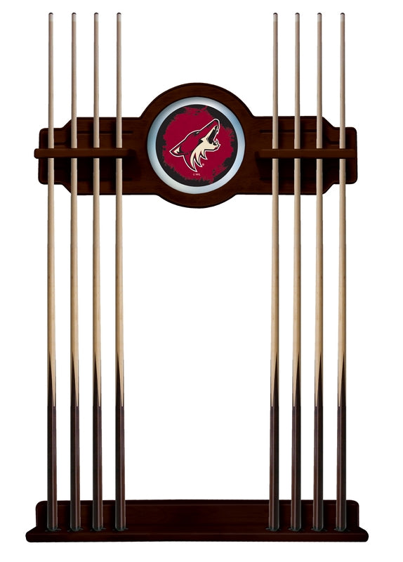 Arizona Coyotes Cue Rack in English Tudor Finish by Holland Bar Stool; UPC: 071235436513