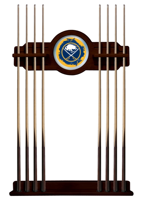 Buffalo Sabres Cue Rack in English Tudor Finish by Holland Bar Stool; UPC: 071235436537