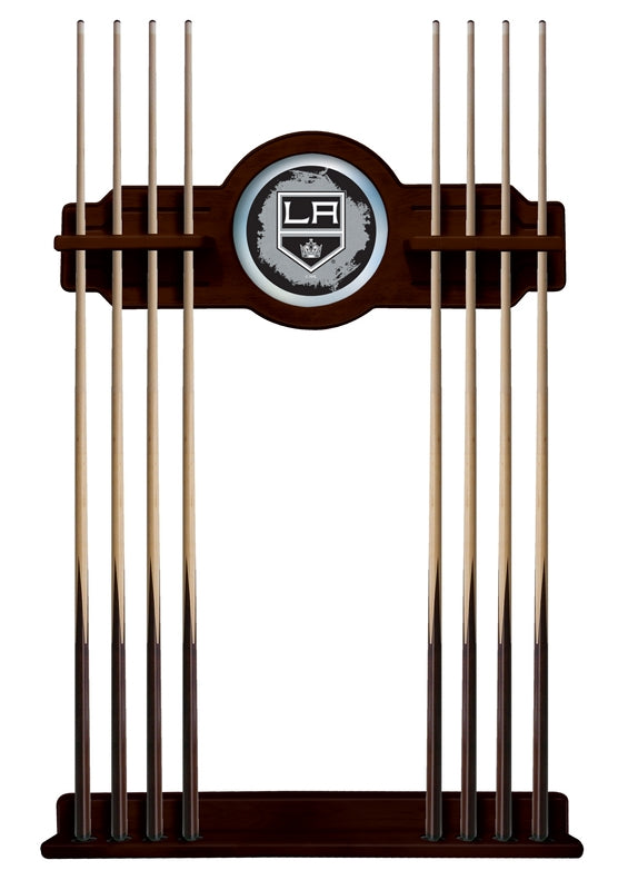 Los Angeles Kings Cue Rack in English Tudor Finish by Holland Bar Stool; UPC: 071235436636