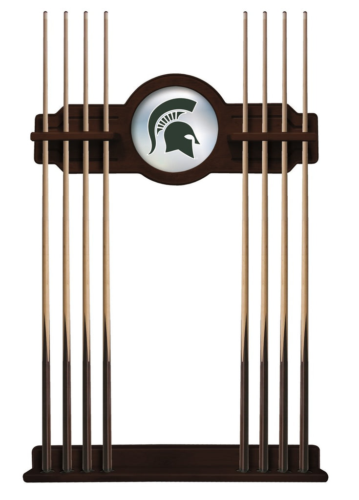 Michigan State Cue Rack in English Tudor Finish by Holland Bar Stool; UPC: 071235433581