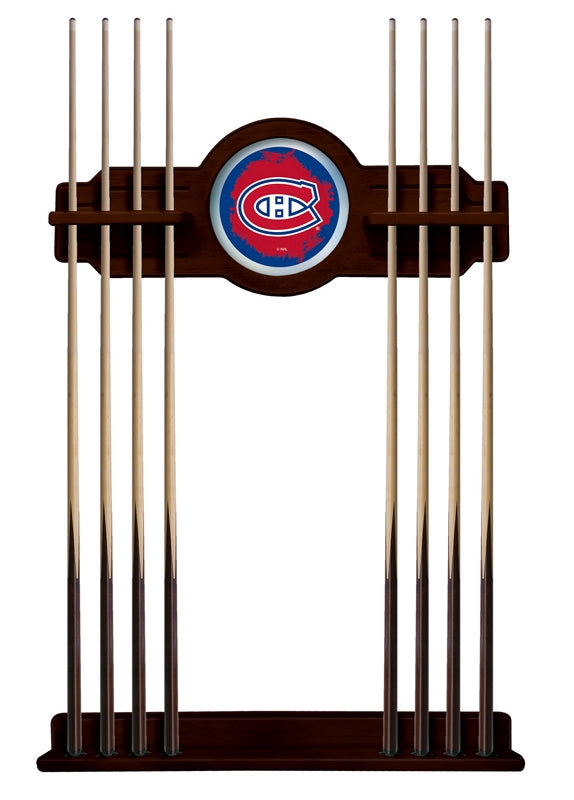 Montreal Canadiens Cue Rack in English Tudor Finish by Holland Bar Stool; UPC: 071235436650
