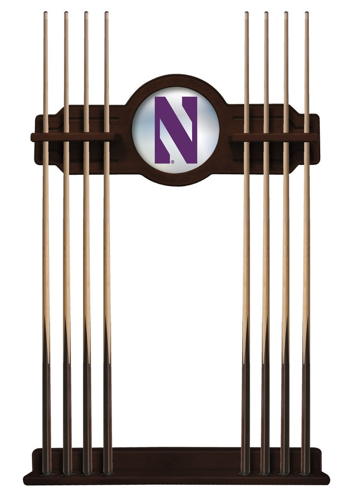 Northwestern Cue Rack in English Tudor Finish by Holland Bar Stool; UPC: 071235433833