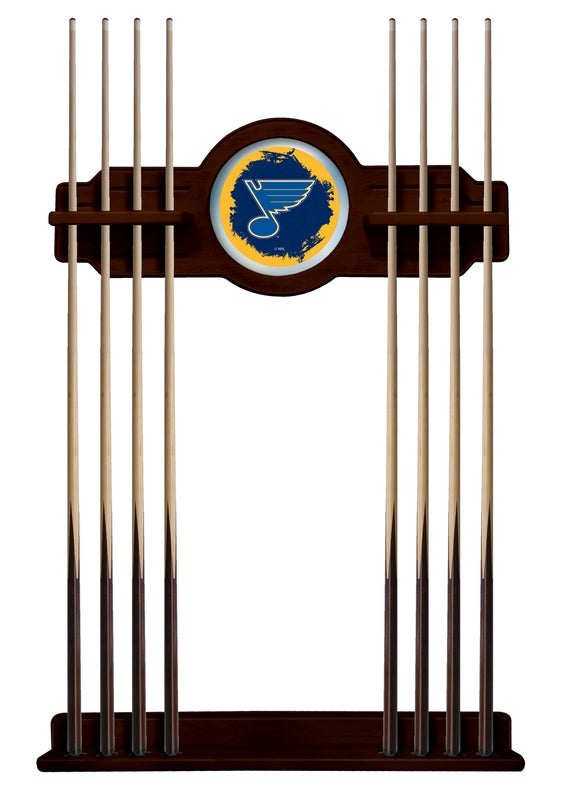 St Louis Blues Cue Rack in English Tudor Finish by Holland Bar Stool; UPC: 071235436742