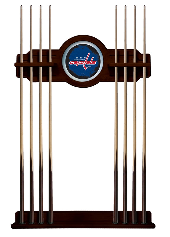 Washington Capitals Cue Rack in English Tudor Finish by Holland Bar Stool; UPC: 071235436797