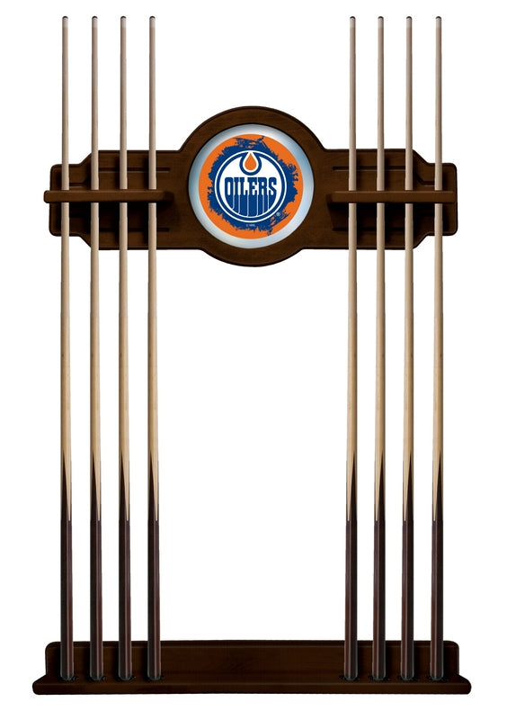 Edmonton Oilers Cue Rack in Navajo Finish by Holland Bar Stool; UPC: 071235436919