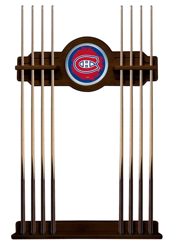 Montreal Canadiens Cue Rack in Navajo Finish by Holland Bar Stool; UPC: 071235436957