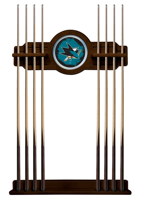 San Jose Sharks Cue Rack in Navajo Finish by Holland Bar Stool; UPC: 071235437039