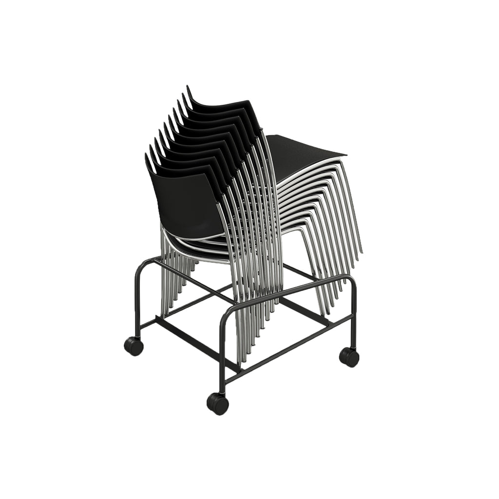 Safco Products Escalate Stacking Chair Trolley ESTBLK(Image 1)