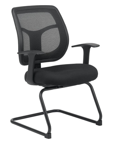 Eurotech Apollo Guest Chair - Black Mesh Back - Fabric Seat - Front Angled View