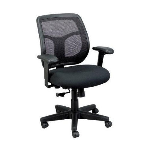 Eurotech Apollo Mid Back Adjustable Task Chair in Black ; MT9400