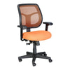 Eurotech Apollo Mid Back Adjustable Task Chair in Orange