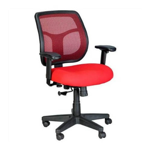 Eurotech Apollo Series Swivel Tilt Task Chair in Red Mesh ; UPC: 669245990776