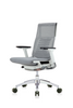 Eurotech Powerfit Task Chair in Gray Mesh/Fabric with White Frame