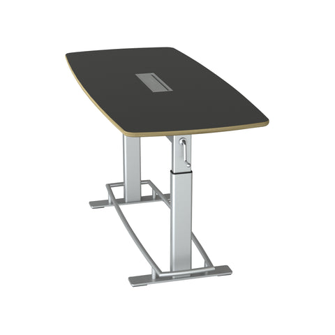 Safco Products Confluence Table 6, Kit - Top & Base FCT-78-A-S-BK Image 1