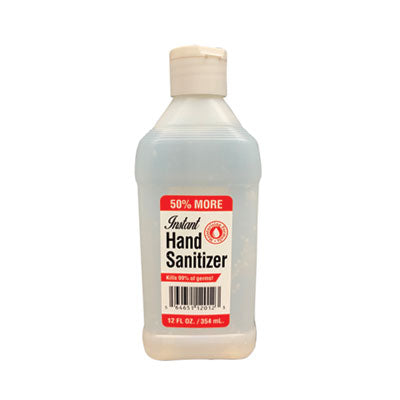 GEN Hand Sanitizer, 12 oz Bottle, Unscented, 24/Carton
