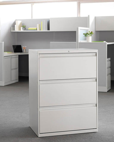 "HON Flagship 18"" Deep 3 Drawer Lateral Files w/R pulls"
