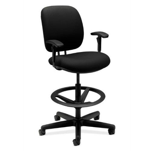 HON ComforTask Stool in Black ; UPC: 020459994453