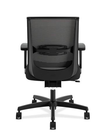 HON Convergence Task Chair | Swivel Tilt Control | Height-Adjustable Arms | Black Mesh and Seat Fabric ; UPC: 782986472209 ; Image 5