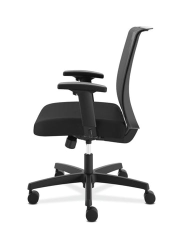 HON Convergence Task Chair | Swivel Tilt Control | Height-Adjustable Arms | Black Mesh and Seat Fabric ; UPC: 782986472209 ; Image 4