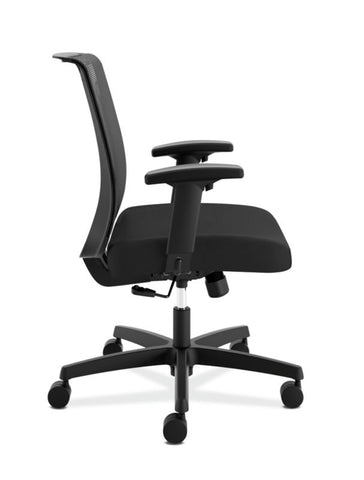 HON Convergence Task Chair | Swivel Tilt Control | Height-Adjustable Arms | Black Mesh and Seat Fabric ; UPC: 782986472209 ; Image 3