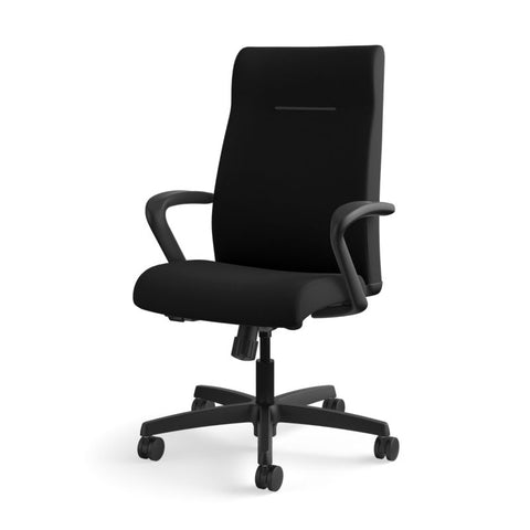 HON Ignition Executive High-Back Task Chair | Fixed Arms | Hard Casters | Upholstered Back | Black Fabric | Standard Base ; UPC: 089191140382 ; Image 11