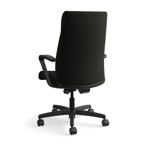 HON Ignition Executive High-Back Chair | Center-Tilt, Tension, Lock | Fixed Arms | Black Leather ; UPC: 089192115907 ; Image 7