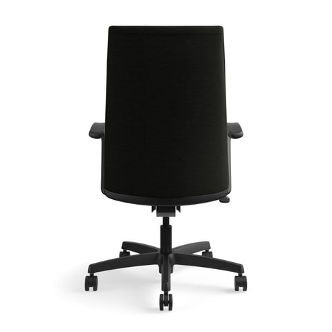 HON Ignition Executive High-Back Chair | Center-Tilt, Tension, Lock | Fixed Arms | Black Leather ; UPC: 089192115907 ; Image 6