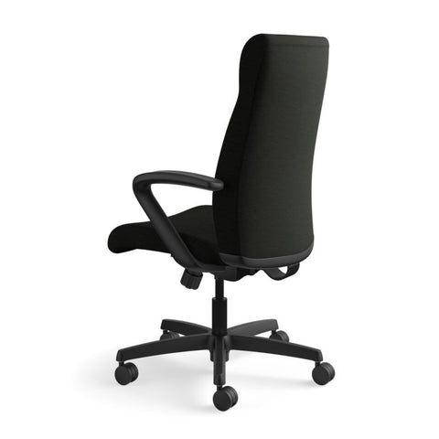 HON Ignition Executive High-Back Chair | Center-Tilt, Tension, Lock | Fixed Arms | Black Leather ; UPC: 089192115907 ; Image 8