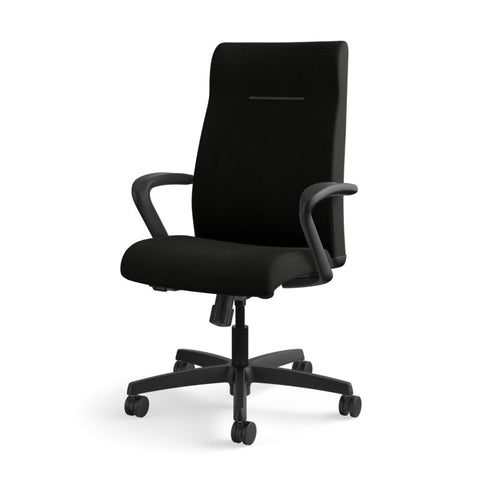 HON Ignition Executive High-Back Chair | Center-Tilt, Tension, Lock | Fixed Arms | Black Leather ; UPC: 089192115907 ; Image 11