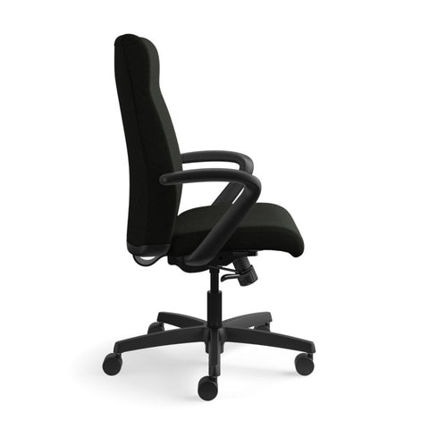 HON Ignition Executive High-Back Chair | Center-Tilt, Tension, Lock | Fixed Arms | Black Leather ; UPC: 089192115907 ; Image 3