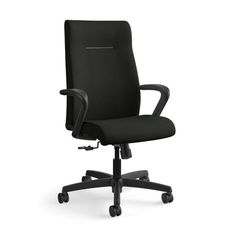 HON Ignition Executive High-Back Chair | Center-Tilt, Tension, Lock | Fixed Arms | Black Leather ; UPC: 089192115907 ; Image 13