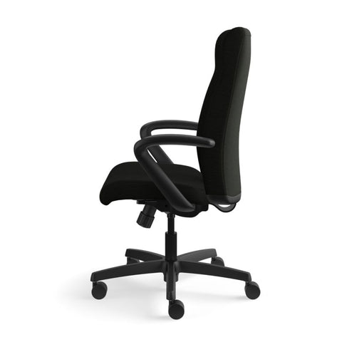 HON Ignition Executive High-Back Chair | Center-Tilt, Tension, Lock | Fixed Arms | Black Leather ; UPC: 089192115907 ; Image 9