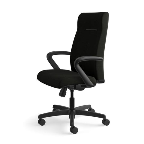 HON Ignition Executive High-Back Chair | Center-Tilt, Tension, Lock | Fixed Arms | Black Leather ; UPC: 089192115907 ; Image 10
