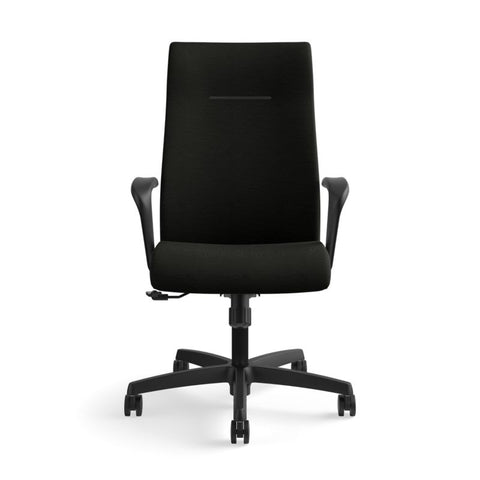 HON Ignition Executive High-Back Chair | Center-Tilt, Tension, Lock | Fixed Arms | Black Leather ; UPC: 089192115907 ; Image 12