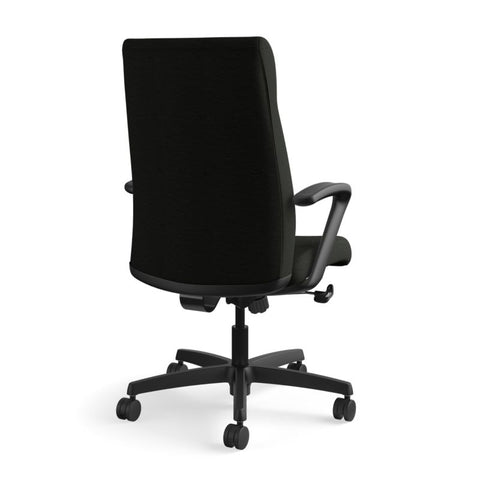 HON Ignition Executive High-Back Chair | Center-Tilt, Tension, Lock | Fixed Arms | Black Leather ; UPC: 089192115907 ; Image 5