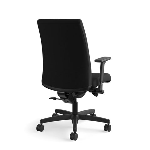 HON Ignition Mid-Back Task Chair | Synchro-Tilt, Back Angle, Tension, Multi-Position Lock, Seat Glide | Adjustable Arms | Black Fabric ; UPC: 631530316219 ; Image 5