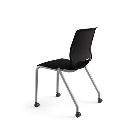 HON Motivate Stacking Chair | Onyx Shell | Textured Platinum Frame | 2 per Carton ; UPC: 889218803616 ; Image 8