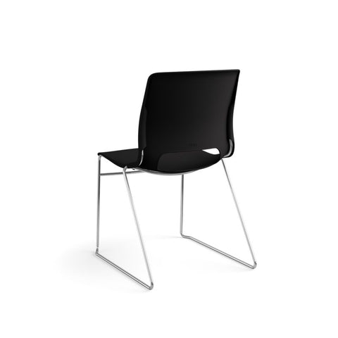 HON Motivate High-Density Stacking Chair | Onyx Shell | 4 per Carton ; UPC: 631530562852 ; Image 7