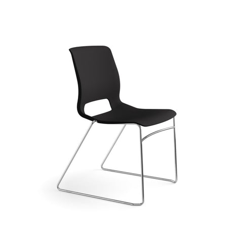 HON Motivate High-Density Stacking Chair | Onyx Shell | 4 per Carton ; UPC: 631530562852 ; Image 2