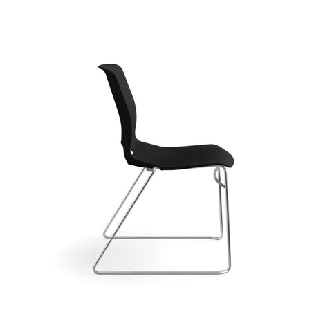 HON Motivate High-Density Stacking Chair | Onyx Shell | 4 per Carton ; UPC: 631530562852 ; Image 3