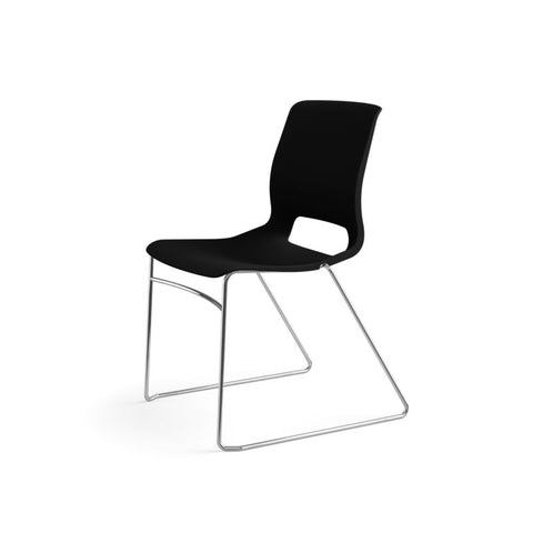 HON Motivate High-Density Stacking Chair | Onyx Shell | 4 per Carton ; UPC: 631530562852 ; Image 10
