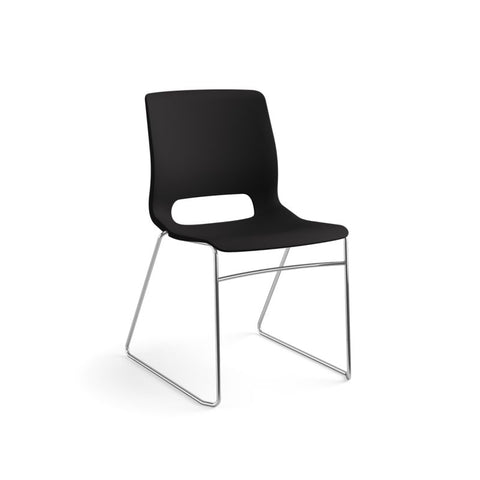 HON Motivate High-Density Stacking Chair | Onyx Shell | 4 per Carton ; UPC: 631530562852 ; Image 13
